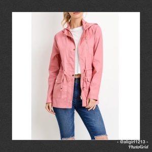 Jackets & Blazers - SALE - Blush Hooded Anorak Jacket